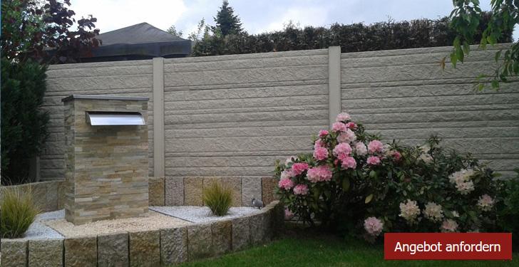 Betonzäune prachtvoller betonzaun für den garten