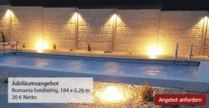 Betonzaun Romania Pool