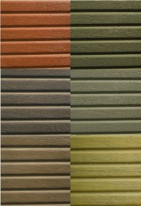 Farbskala Betonzaun Holzoptik