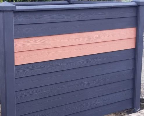 Betonzaun Motiv Holz Nordic